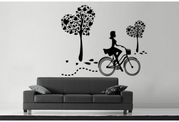 Vinilo decorativo - Bike Girl